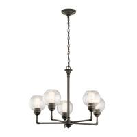 Kichler 43993OZ Niles 5 Light 26 inch Olde Bronze Chandelier Ceiling Light Medium