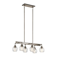 Kichler 43994AP Niles 6 Light 17 inch Antique Pewter Chandelier Ceiling Light