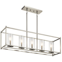 Kichler 43995NI Crosby 5 Light 10 inch Brushed Nickel Chandelier Ceiling Light, Linear