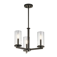 Crosby 3 Light 18 inch Olde Bronze Chandelier Ceiling Light
