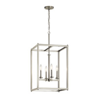 Kichler 43998NI Crosby 4 Light 16 inch Brushed Nickel Foyer Pendant Ceiling Light