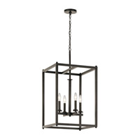 Kichler 43998OZ Crosby 4 Light 16 inch Olde Bronze Foyer Pendant Ceiling Light