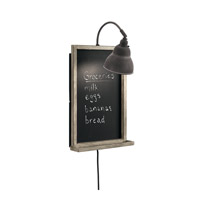 Chalkboard 1 Light 13 inch Weathered Zinc Wall Bracket Wall Light