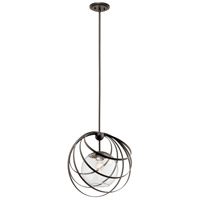 Kichler 44017OZ Kerti 1 Light 19 inch Olde Bronze Pendant Ceiling Light