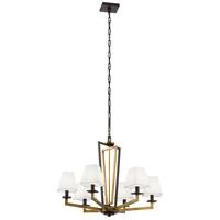 Kichler 44022NBR Dancar 6 Light 28 inch Natural Brass Chandelier Ceiling Light
