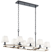 Kichler 44023PN Dancar 8 Light 16 inch Polished Nickel Chandelier Linear (Double) Ceiling Light