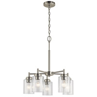Kichler 44030NI Winslow 5 Light 20 inch Brushed Nickel Chandelier Ceiling Light, Small