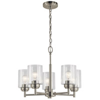 Kichler 44030NI Winslow 5 Light 20 inch Brushed Nickel Chandelier Ceiling Light, Small alternative photo thumbnail