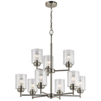 Winslow 9 Light 27 inch Brushed Nickel Chandelier Ceiling Light, 2 Tier