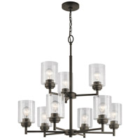Winslow 9 Light 27 inch Olde Bronze Chandelier Ceiling Light, 2 Tier