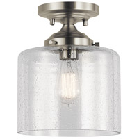 Kichler 44033NI Winslow 1 Light 9 inch Brushed Nickel Semi Flush Mount Ceiling Light