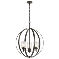 Kichler 44034OZ Winslow 3 Light 25 inch Olde Bronze Chandelier Ceiling Light, Medium