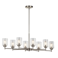 Winslow 8 Light 20 inch Brushed Nickel Chandelier Ceiling Light, Small