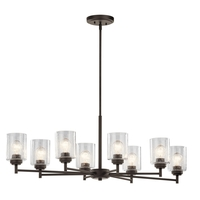 Kichler 44035OZ Winslow 8 Light 20 inch Olde Bronze Chandelier Ceiling Light, Small