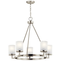 Daimlen 5 Light 27 inch Brushed Nickel Chandelier Ceiling Light, Medium