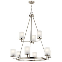 Daimlen 9 Light 34 inch Brushed Nickel Chandelier Ceiling Light, Large