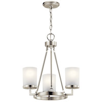 Daimlen 3 Light 18 inch Brushed Nickel Chandelier Ceiling Light