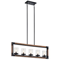 Kichler 44043AUB Marimount 5 Light 4 inch Auburn Stained Chandelier Linear (Single) Ceiling Light