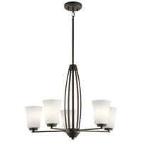 Kichler 44051OZ Tao 5 Light 25 inch Olde Bronze Chandelier Ceiling Light Medium