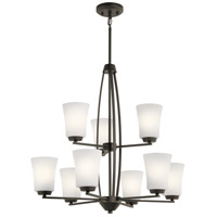 Tao 9 Light 27 inch Olde Bronze Chandelier Ceiling Light, 2 Tier