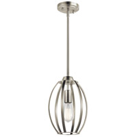 Kichler 44054NI Tao 1 Light 8 inch Brushed Nickel Pendant Ceiling Light