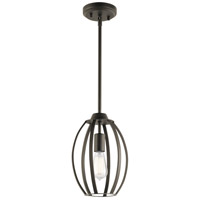 Tao 1 Light 8 inch Olde Bronze Pendant Ceiling Light