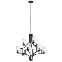 Kichler 44073DBK Vara 9 Light 26 inch Distressed Black Chandelier Ceiling Light, 2 Tier