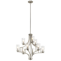 Vara 9 Light 26 inch Brushed Nickel Chandelier Ceiling Light, 2 Tier