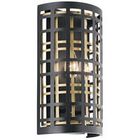 Kichler 44079BK Aldergate 2 Light 8 inch Black Wall Sconce Wall Light