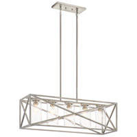 Kichler 44081DAW Moorgate 5 Light 12 inch Distressed Antique White Chandelier Linear (Single) Ceiling Light
