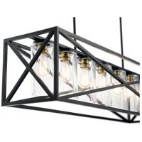 Kichler 44082BK Moorgate 7 Light 12 Inch Black Chandelier Ceiling Linear Alternative Photo Thumbnail