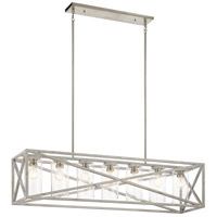 Kichler 44082DAW Moorgate 7 Light 12 inch Distressed Antique White Chandelier Linear (Single) Ceiling Light