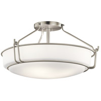 Alkire 4 Light 22 inch Brushed Nickel Semi Flush Light Ceiling Light