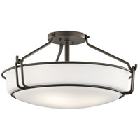 Alkire 4 Light 22 inch Olde Bronze Semi Flush Light Ceiling Light