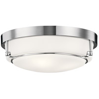 Kichler 44089CH Belmont 3 Light 16 inch Chrome Flush Mount Ceiling Light