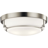 Kichler 44089NI Belmont 3 Light 16 inch Brushed Nickel Flush Mount Ceiling Light