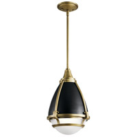 Kichler 44098NBR Ayra 1 Light 10 inch Natural Brass Pendant Ceiling Light