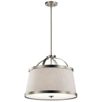 Kichler 44108NI Amarena 3 Light 20 inch Brushed Nickel Semi Flush Mount Ceiling Light Convertible