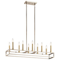 Kichler 44110PN Finet 10 Light 9 inch Polished Nickel Chandelier Ceiling Light