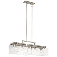 Kichler 44124CLP Tiers 5 Light 8 inch Classic Pewter Chandelier Ceiling Light, Linear