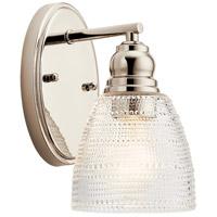 Kichler 44148PN Karmarie 1 Light 5 inch Polished Nickel Wall Bracket Wall Light