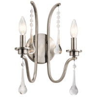 Kichler 44149CLP Karlee 2 Light 11 inch Classic Pewter Wall Bracket Wall Light