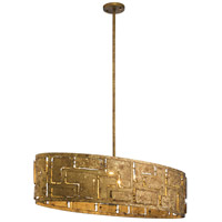 Kichler 44156PG Shefali 6 Light 15 inch Pharaoh Gold Chandelier Ceiling Light Oval