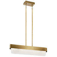 Serene LED 6 inch Natural Brass Chandelier Ceiling Light, Linear