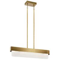 Kichler 44160NBRLED Serene LED 6 inch Natural Brass Chandelier Ceiling Light Linear