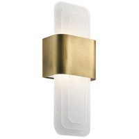 Serene LED 7 inch Natural Brass Wall Sconce Wall Light