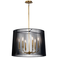 Linara 6 Light 26 inch Black Chandelier Ceiling Light, Round