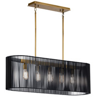 Kichler 44168BK Linara 5 Light 12 inch Black Chandelier Ceiling Light