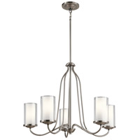 Kichler 44176CLP Lorin 5 Light 25 inch Classic Pewter Chandelier Ceiling Light, Medium