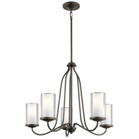 Kichler 44176OZ Lorin 5 Light 25 inch Olde Bronze Chandelier Ceiling Light, Medium